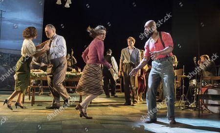 Stock Picture of Debbie Kurup as Mrs Nelson, Stanley Townsend as Mr Burke, Shirley Henderson as Elizabeth, Sam Reid as Gene, Arinze Kene as Joe
