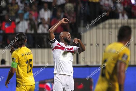 Zamalek player Shikabala reacts during the Arab Club Championship soccer match between Al Ahed and Zamalek in Alexandria, Egypt, 26 July 2017.
