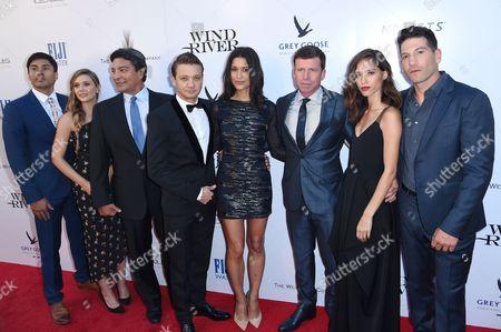 Martin Sensmeier, Elizabeth Olsen, Gil Birmingham, Jeremy Renner, Julia Jones, Taylor Sheridan, Kelsey Chow and Jon Bernthal
