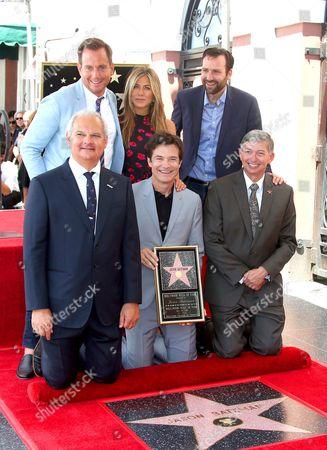 Jeff Zarrinnam, Will Arnett, Jason Bateman, Jennifer Aniston, Senator Ben Allen and Leron Gubler