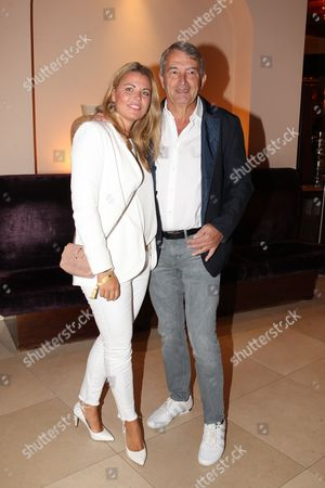 Wolfgang Niersbach with partner Marion Popp,
