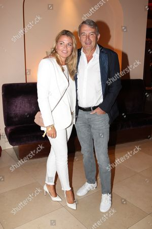 Stock Photo of Wolfgang Niersbach with partner Marion Popp,