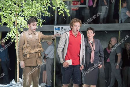 Bradley Travis as Siegfried Sassoon, Sam Furness as Jack, Sarah Redgwick as Mrs Morrell