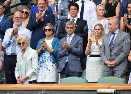 Sadiq Khan and wife Saadiya in the Royal Box, Justin Rose, Michael McIntyre