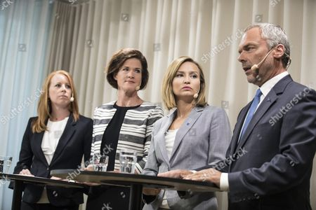 Annie Loof, Centre Party, Anna Kinberg Batra, Moderate Party, Ebba Busch Thor, Christian Democrats, Jan Bjorklund, Liberals