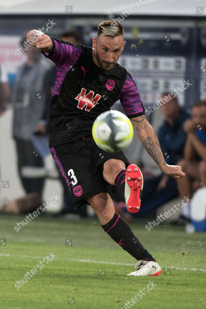 Diego Contento of Bordeaux in action during the UEFA Europa League third qualifying round, 1st leg match between Girondins Bordeaux and Videoton FC in Bordeaux, France, 27 July 2017.