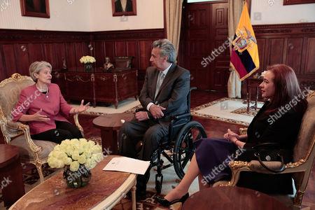 Lenin Moreno, Maria Fernanda Espinosa and Irina Bokova