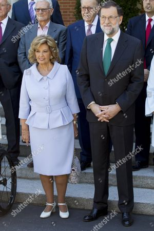 Maria Teresa Campos and Mariano Rajoy