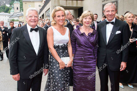 Daniela Schadt, Joachim Gauck, Wilfried Haslauer and wife Christina