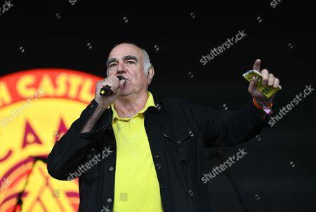 Comedian Stephen Frost presents at Camp Bestival, Dorset, UK
