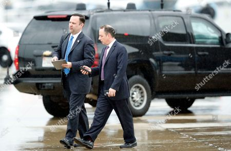 Dan Scavino, Reince Priebus White House Director of Social Media Dan Scavino, left, walks with former White House Chief of Staff Reince Priebus as they step off Air Force One as they arrives, at Andrews Air Force Base, Md. Trump says Homeland Secretary Secretary John Kelly is his new White House chief of staff