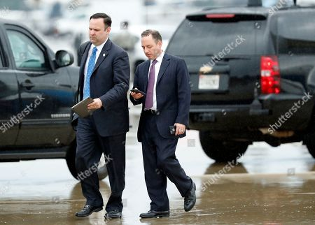 Dan Scavino, Reince Priebus White House Director of Social Media Dan Scavino, left, walks with former White House Chief of Staff Reince Priebus steps off Air Force One as they arrive, at Andrews Air Force Base, Md. Trump says Homeland Secretary Secretary John Kelly is his new White House chief of staff