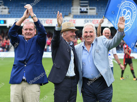 Gerry Francis, Stan Bowles, and Don Shanks walk the teams out