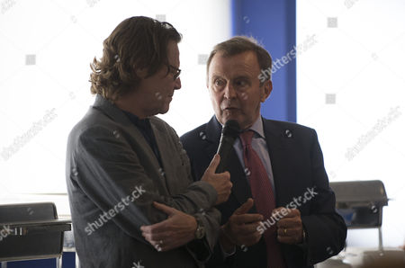 Stock Image of Commercial and marketing... John Hollins being interviewed