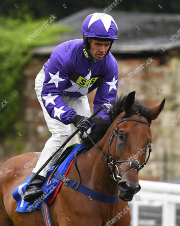 Monar Lad ridden by Timmy Murphy goes down to the start  of The HQMS Ltd 20th Anniversary Maiden Stakes,  during Evening Racing at Salisbury Racecourse on 29th July 2017