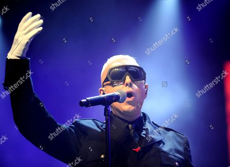 Holly Johnson, former front man of Frankie Goes to Hollywood, performs on the Castle Stage