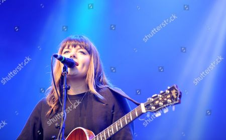 Stock Image of Alice Jemima performs on the Castle Stage