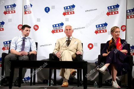 Stock Photo of Kellen Russoniello, Roger Stone and Xeni Jardin