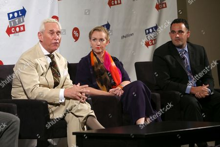 Stock Image of Roger Stone, Xeni Jardin and Kevin Sabet