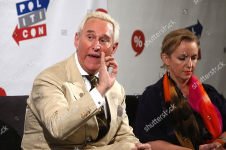 Stock Image of Roger Stone and Xeni Jardin