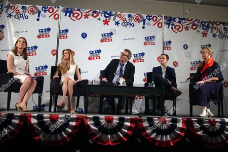 Stock Image of Evan Ryan, Ann Coulter, Greg Proops, Guy Benson and Xeni Jardin