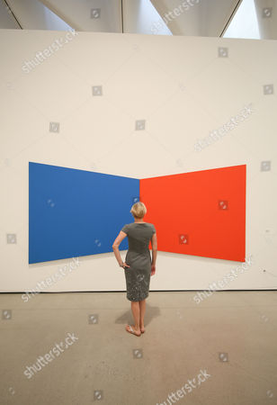 The Broad Museum Exhibits. Blue Red by Ellsworth Kelly 1968