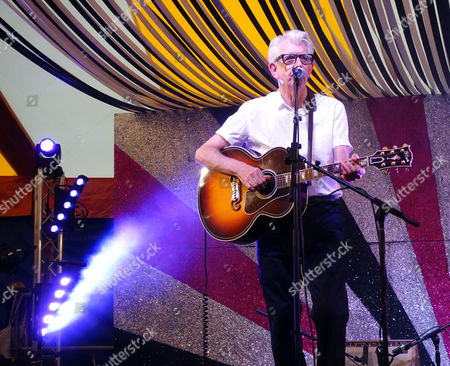 Nick Lowe performing on the Park Stage