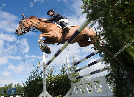 Robert Whitaker (GBR) riding Noble Warrior in action during their winning round in the The Royal International Accumulator.  The Longines Royal International Horse Show, 2017, Hickstead Showground, West Sussex, United Kingdom 30th July 2017
