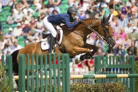 Reed Kessler (USA) riding Cos I Can in action during The Longines King George V Gold Cup, The Longines Royal International Horse Show, 2017, Hickstead Showground, West Sussex, United Kingdom 30th July 2017