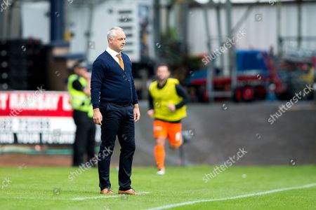 Dundee United manager Ray McKinnon looks on during the Betfred Scottish Cup group stage match between Dundee and Dundee United at Dens Park, Dundee