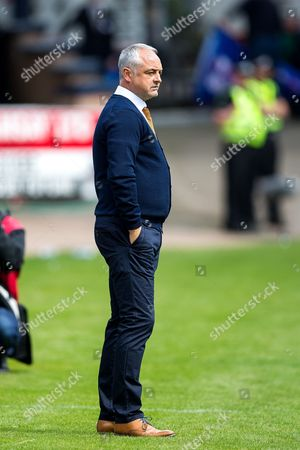 Dundee United manager Ray McKinnon during the Betfred Scottish Cup group stage match between Dundee and Dundee United at Dens Park, Dundee