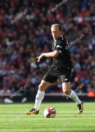 Sevilla's Michael Krohn Dehli in action during an Emirates Cup friendly soccer match between Arsenal and Sevilla FC in London, Britain, 30 July 2017.