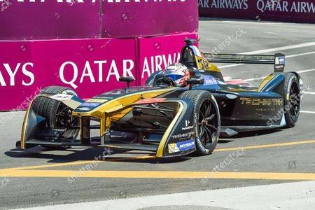 Techeetah pilot Stephane Sarrazin (33) during the qualifications at the Montreal Formula E ePrix in Montr©al, Qu©bec