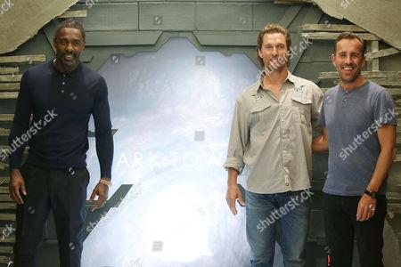Idris Elba, Matthew McConaughey and Nikolaj Arcel (Director)