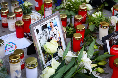 Stock Image of Tributes on the first anniversary of the death of Walter Scheel