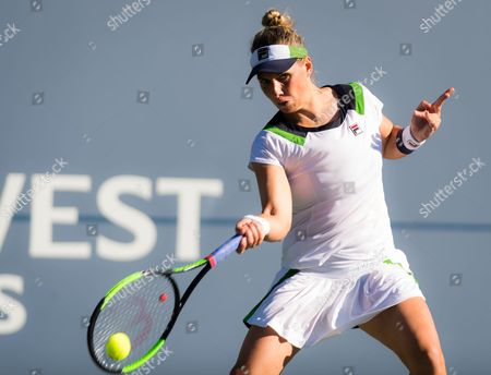 Stock Photo of Marina Erakovic of New Zealand in action during the second round of qualifications