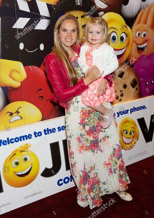 Stock Picture of Allegra Feltz & daughter