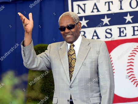 National Baseball Hall of Famer Bob Gibson arrives for an induction ceremony at the Clark Sports Center, in Cooperstown, N.Y