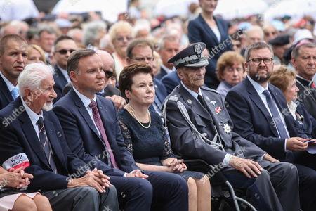 Andrzej Duda, Leszek Zukowski and Hanna Gronkiewicz-Waltz