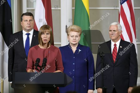 Editorial picture of US Vice President Mike Pence visits Estonia - 31 Jul 2017
