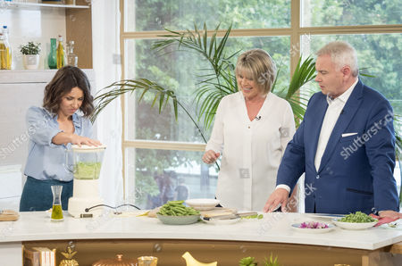 Stock Photo of Florence Knight with Ruth Langsford and Eamonn Holmes