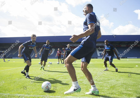 Steven Caulker at the QPR open training session at their Loftus Road Stadium prior to the start of the new season