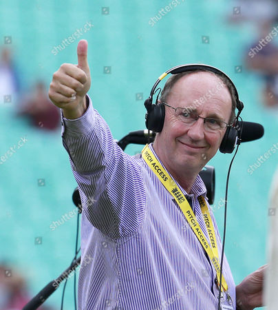 Jonathan Agnew the TMS (Test Match Special) Cricket Presenter gives a Thumbs Up