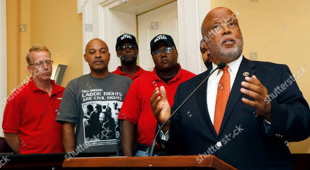 Stock Picture of Ernest Whitfield, Bennie Thompson, Lee Ruffin, Travis Parks, Eric Hearn U.S. Rep. Bennie Thompson, D-Miss., right, expresses his desire for a company intimidation free union vote at the Nissan vehicle assembly plant in Canton, Miss., during a Jackson, Miss., news conference, where he was joined by local the mayors of Canton and Jackson. Joining Thompson were Nissan employees Travis Parks, left, Lee Ruffin, second from left, Eric Hearn, center and Ernest Whitfield, second from right. The UAW has a vote scheduled Aug. 3-4, on whether it should represent some 3,700 workers