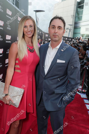 Stock Picture of Megan Rutherford, Producer Joey Tufaro