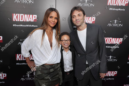 Producer/Actor Halle Berry, Sage Correa, Director Luis Prieto