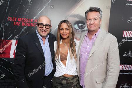 David Dinerstein, President, Aviron Pictures, Producer/Actor Halle Berry, William Sadleir, Chairman, Aviron Capital