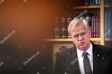 Editorial picture of Australian National University Vice Chancellor Brian Schmidt press conference, Canberra, Australia - 01 Aug 2017