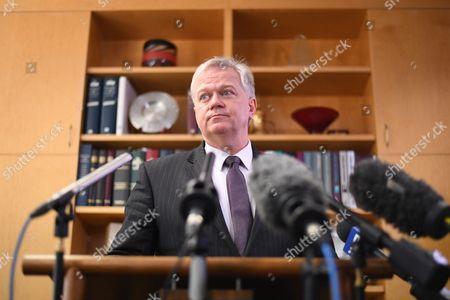 Editorial photo of Australian National University Vice Chancellor Brian Schmidt press conference, Canberra, Australia - 01 Aug 2017