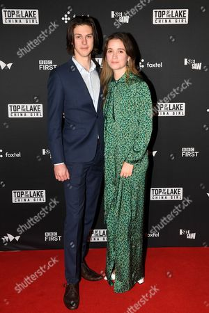 Stock Image of Alice Englert and Lincoln Vickery
